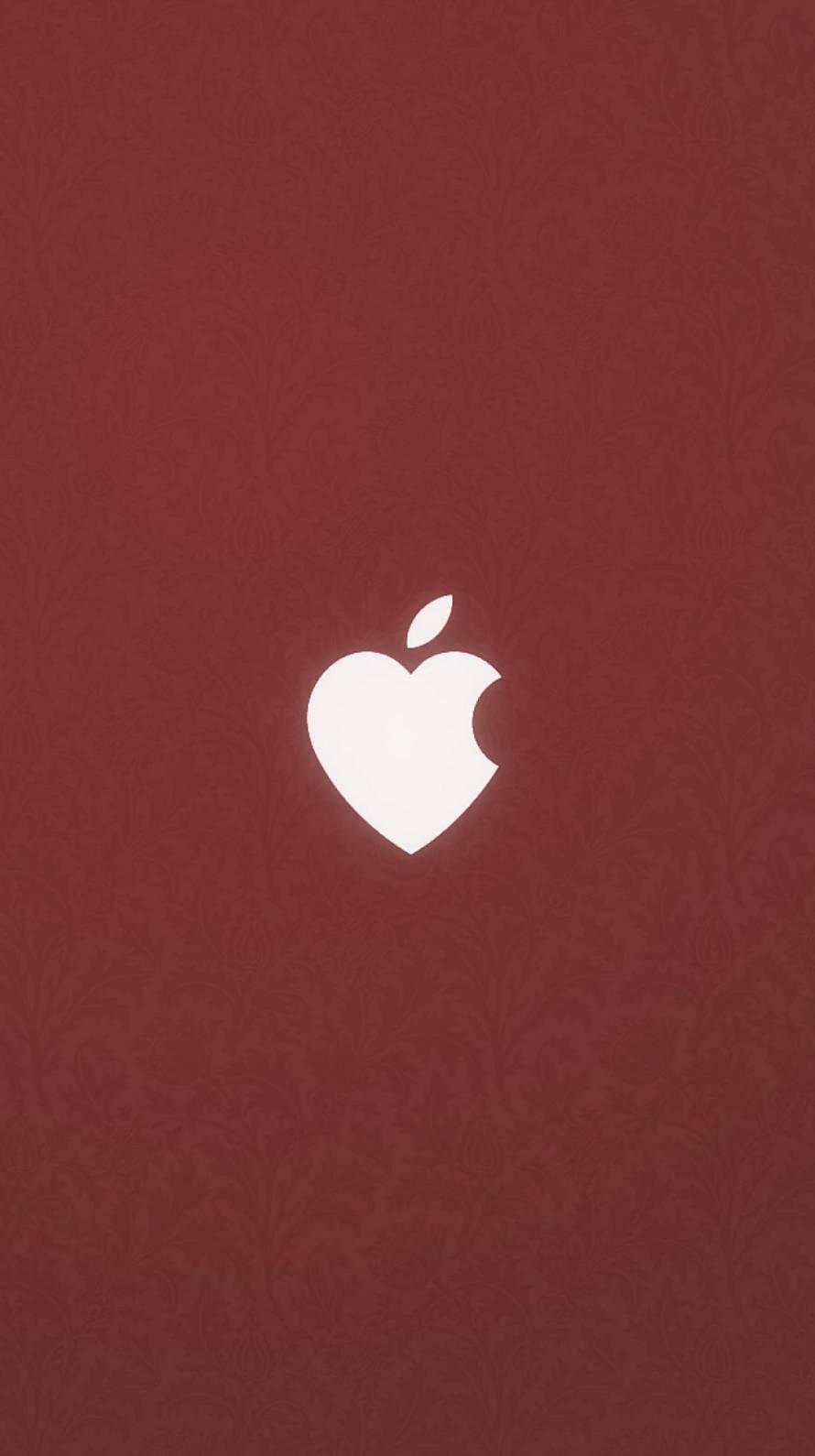 ハートのアップルマーク Iphone6壁紙 Wallpaperbox