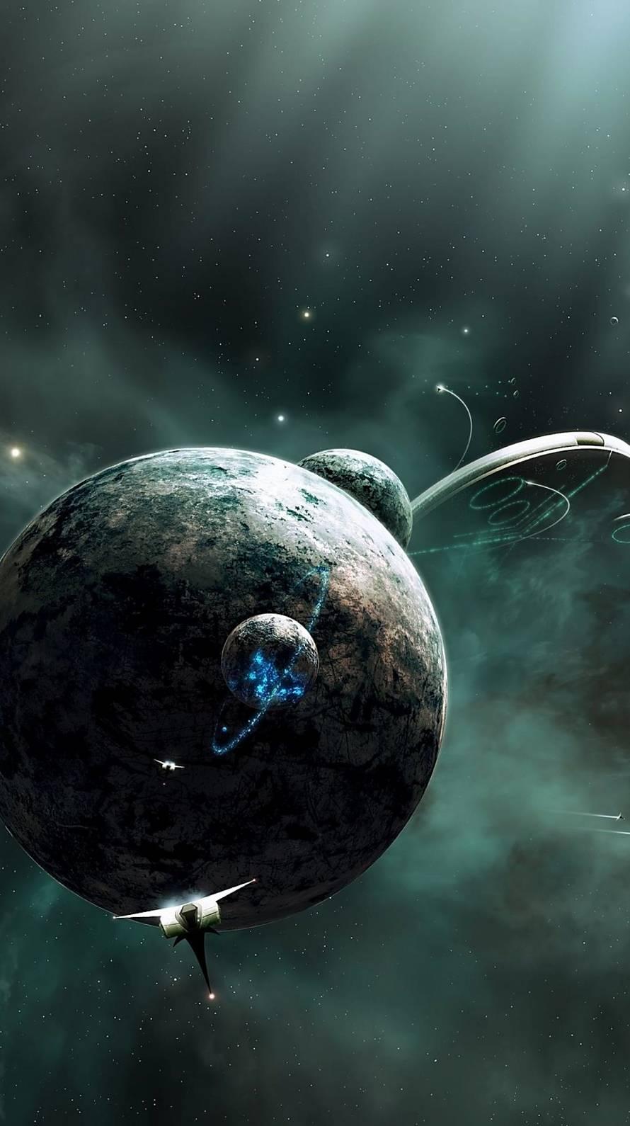 宇宙と宇宙船 Iphone6壁紙 Wallpaperbox