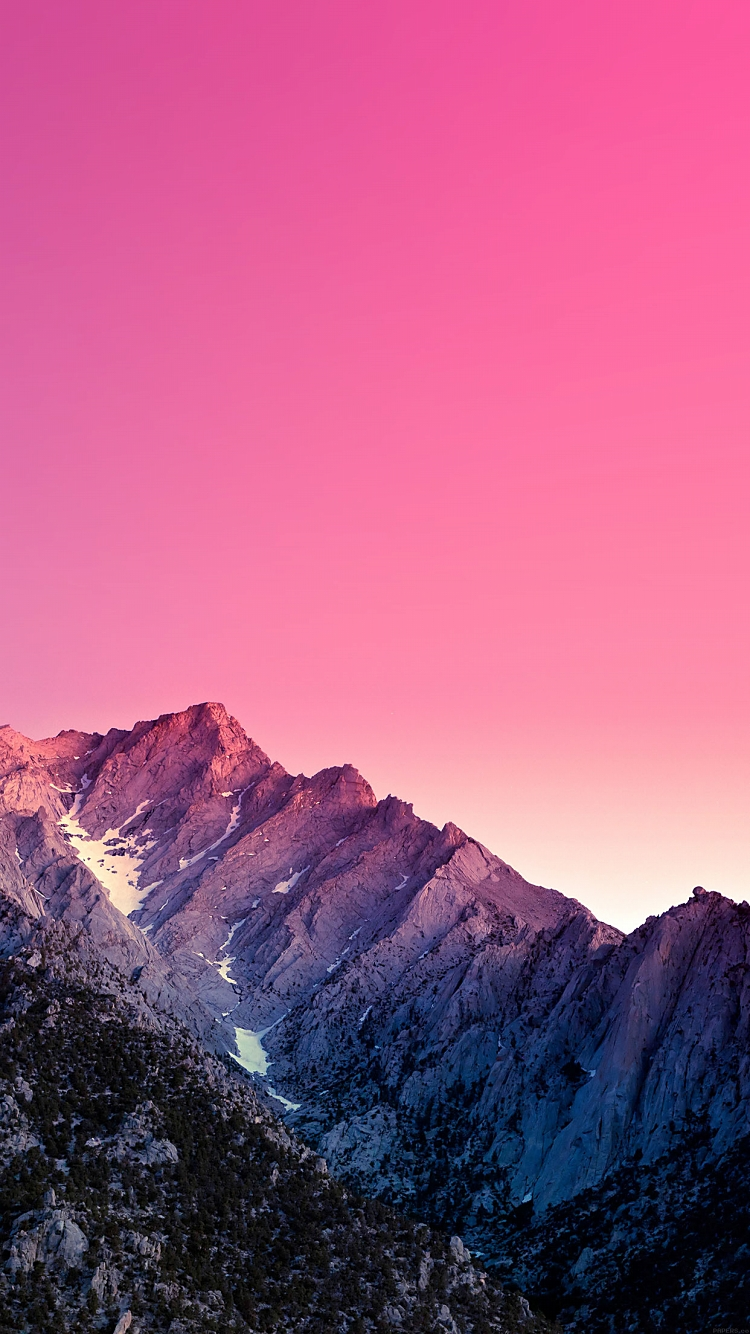 ピンクの景色 iPhone6壁紙