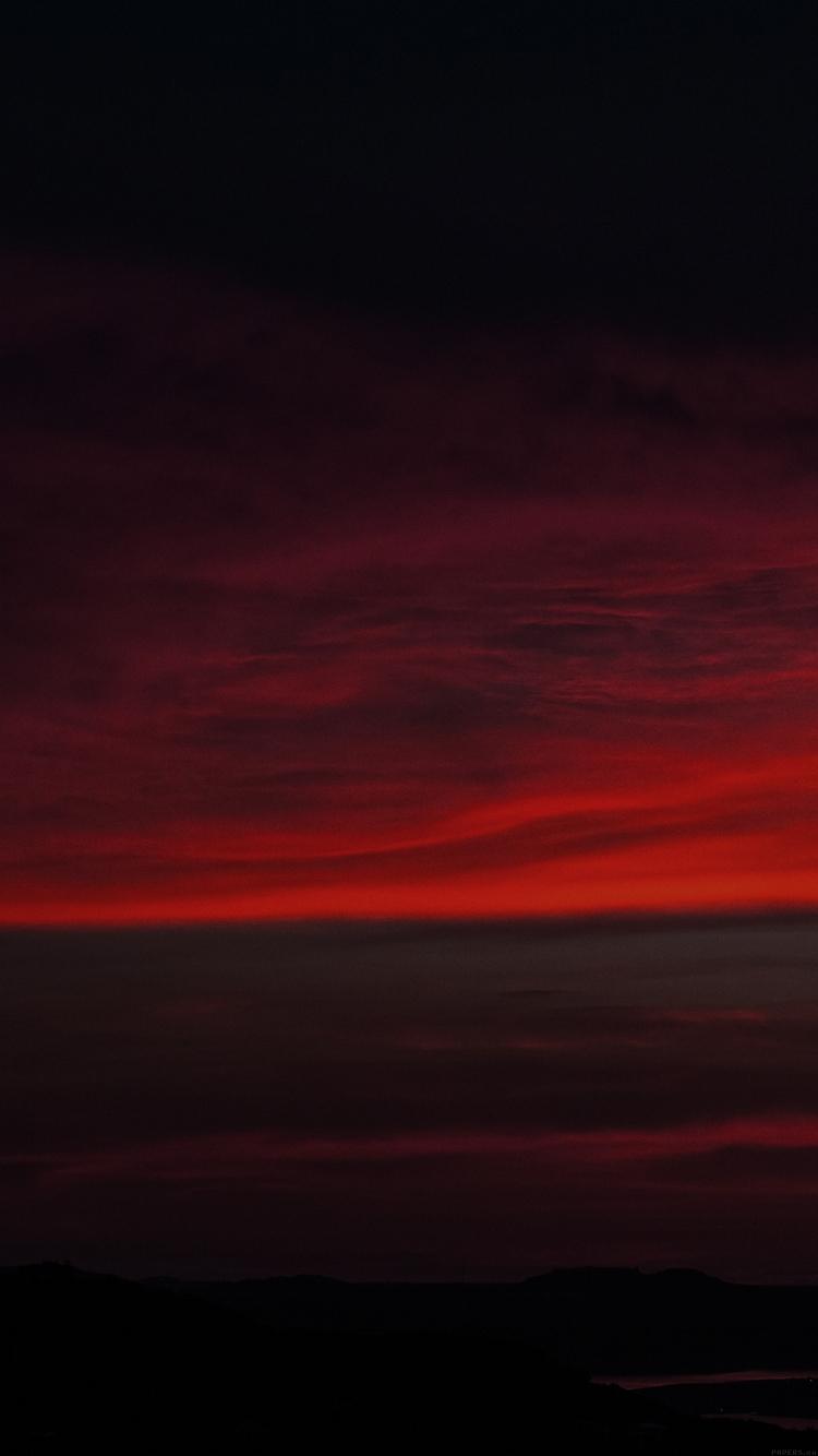 赤い夕焼け Iphone6壁紙 Wallpaperbox