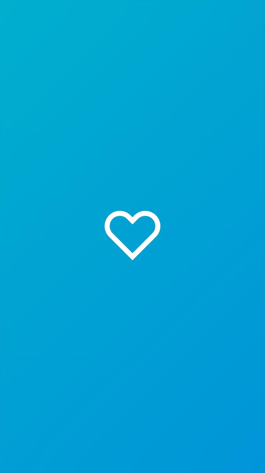 青いハート Iphone6壁紙 Wallpaperbox
