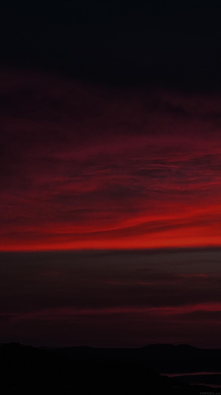 赤 黒 雲 Iphone6壁紙 Wallpaperbox