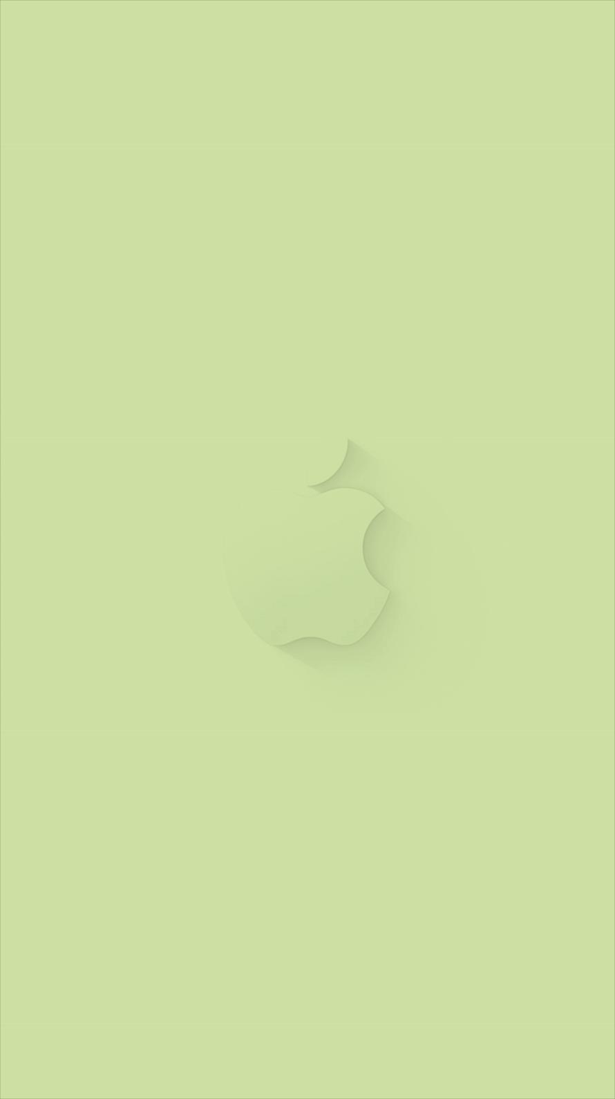 ミントグリーン アップルロゴ Iphone6壁紙 Wallpaperbox