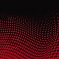 うねる赤のドット柄 iPhone6壁紙