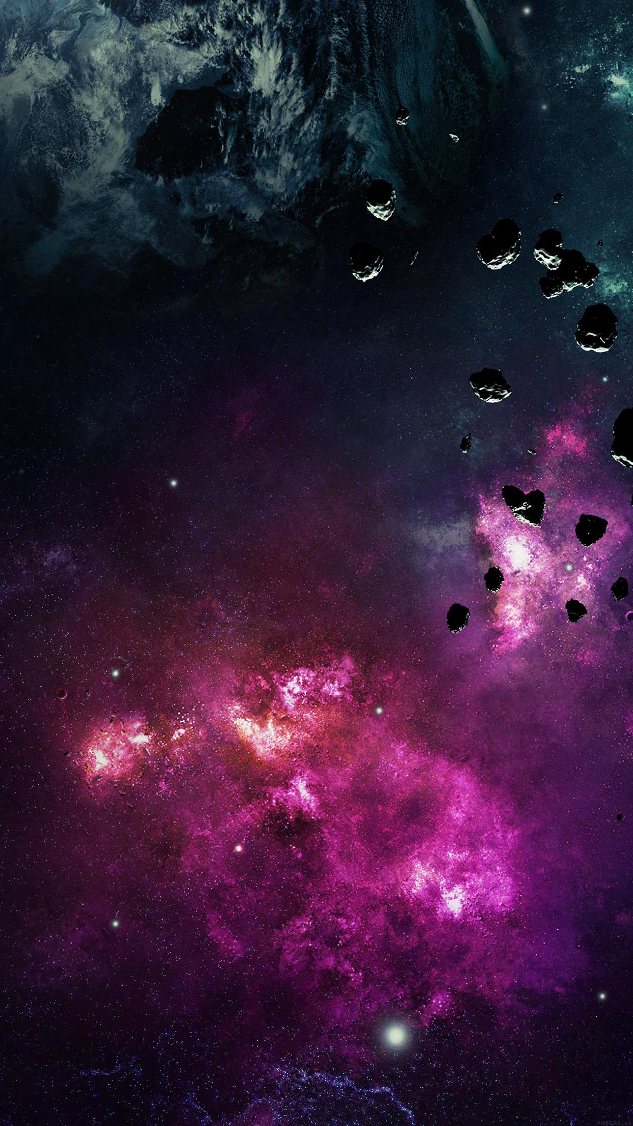 宇宙と隕石 Iphone6壁紙 Wallpaperbox