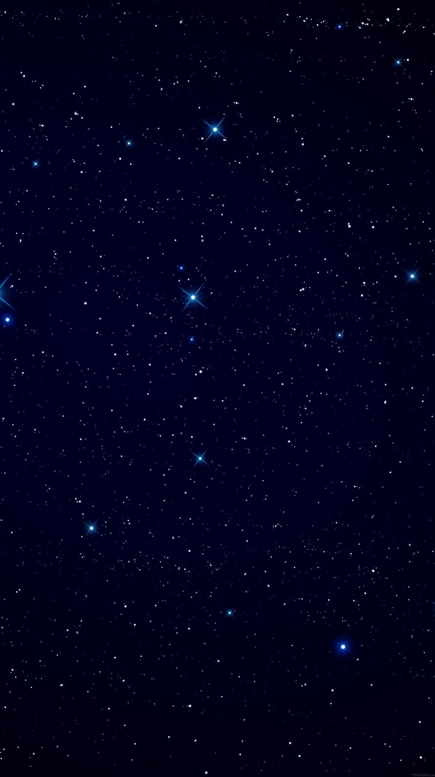 青い銀河 iPhone6壁紙