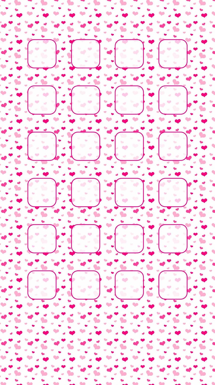 ピンク ハート かわいいiphone6壁紙 Wallpaperbox