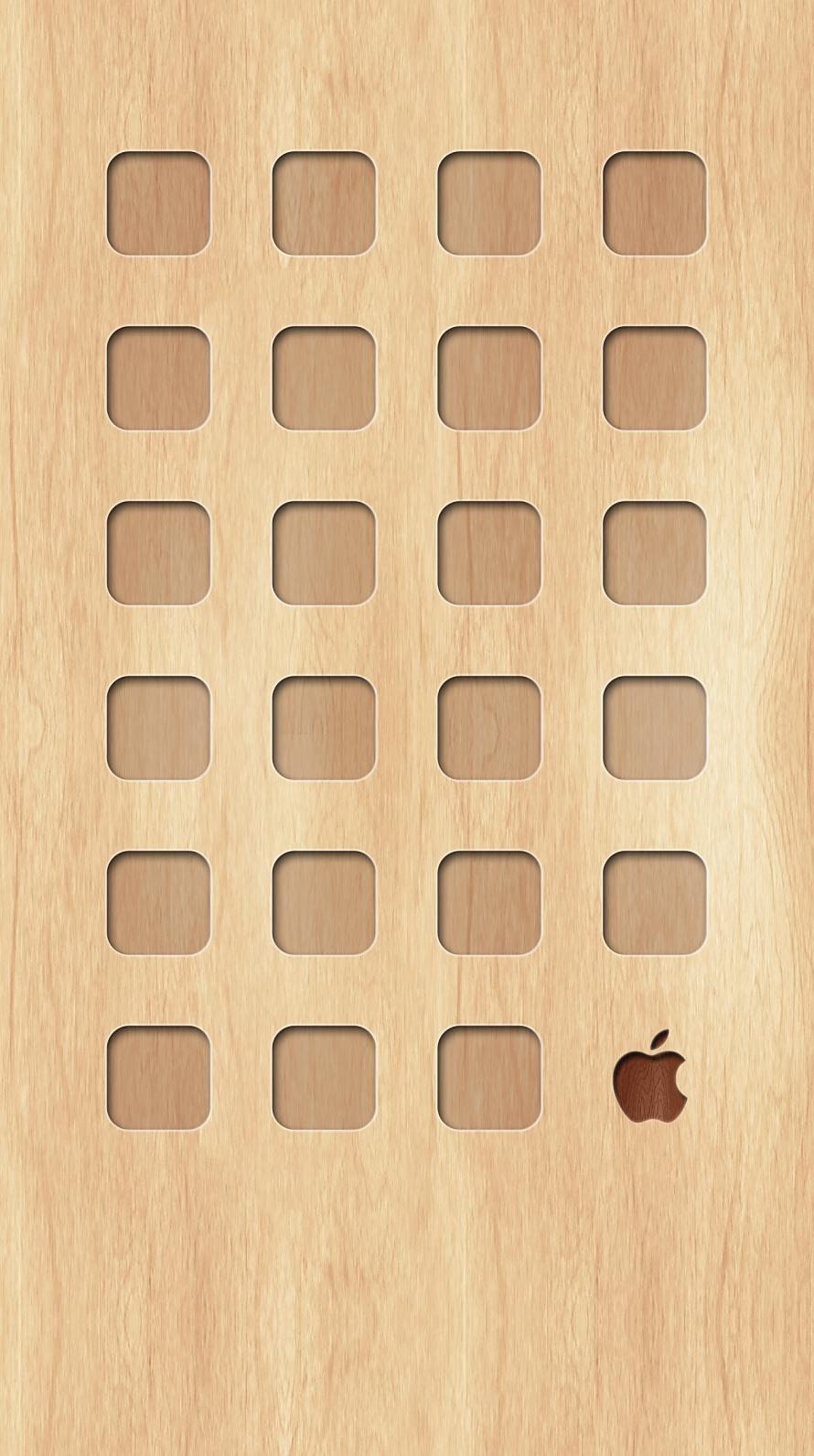 シンプルな木目 ミニマルなアップルロゴ Iphone6壁紙 Wallpaperbox