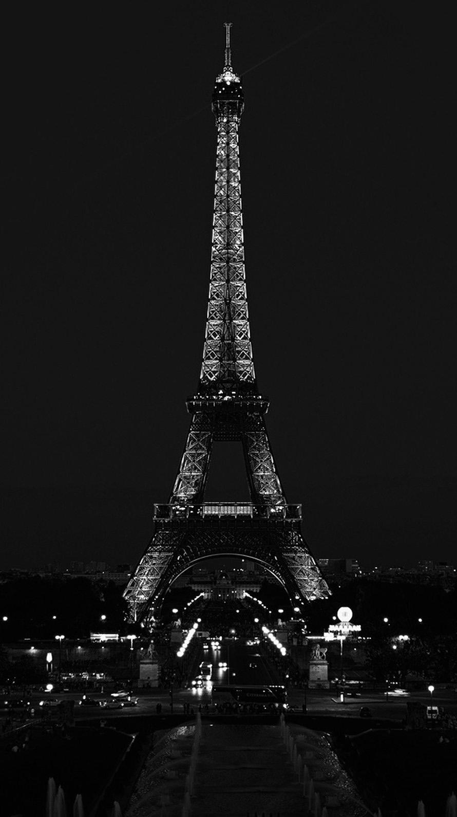 夜 パリのエッフェル塔 Iphone6壁紙 Wallpaperbox