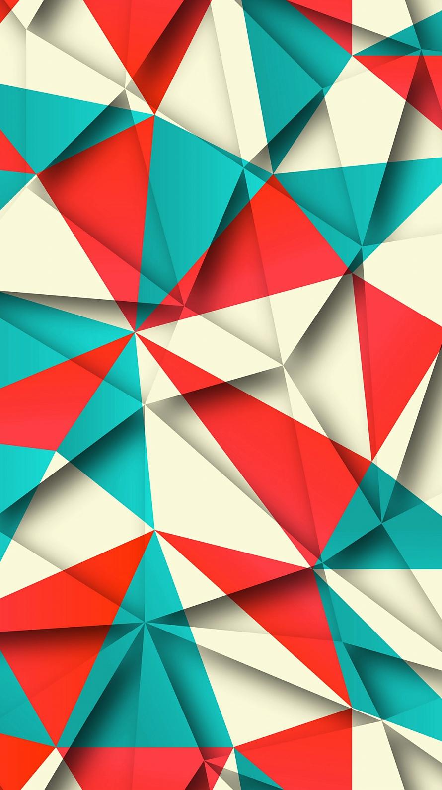 赤 緑 白のポリゴン Iphone6壁紙 Wallpaperbox