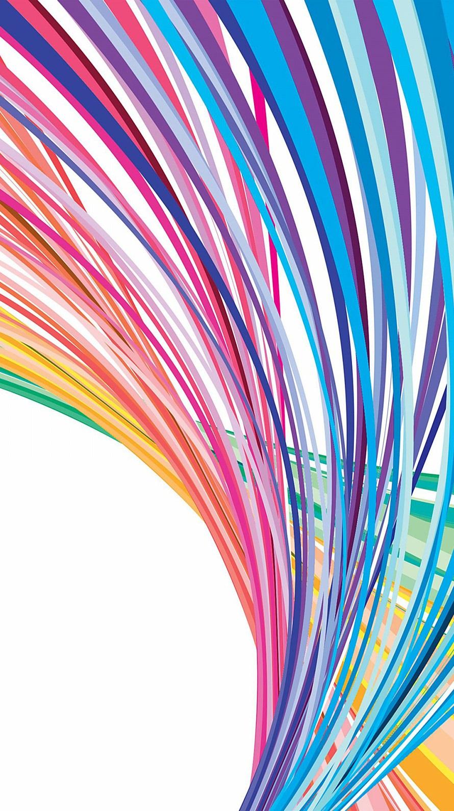 カラフルな楕円曲線 iPhone6壁紙